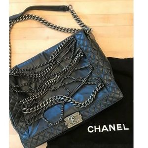 Chanel Large Boy Bag with chains